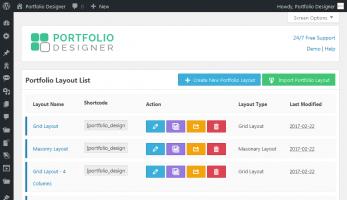 Portfolio Designer – Portfolio Layout List