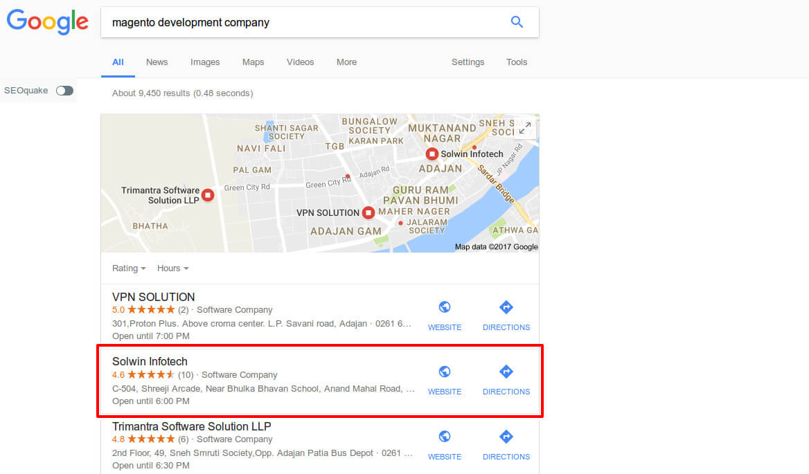 Google Business Page – Solwin