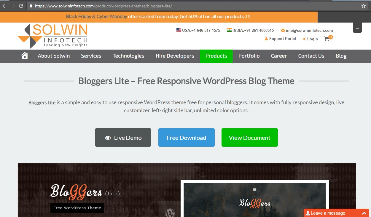 Blogger - Free WordPress Theme