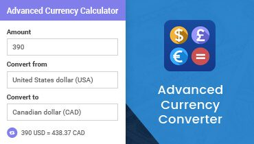 Advanced Currency Converter for WordPress