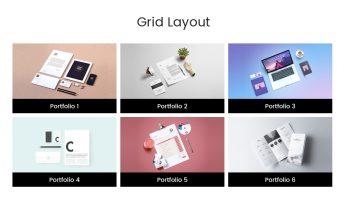 Portfolio Designer – Grid Layout (Bottom Content, Only Title)