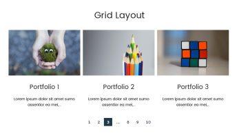 Portfolio Designer – Grid Layout (Bottom Content with Description)
