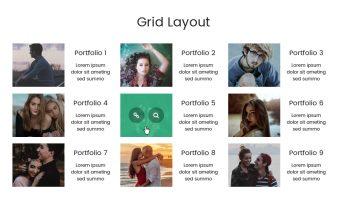 Portfolio Designer – Grid Layout (Right Side Content)