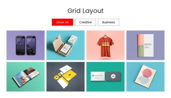 Portfolio Designer – Grid Layouts with Filter Option