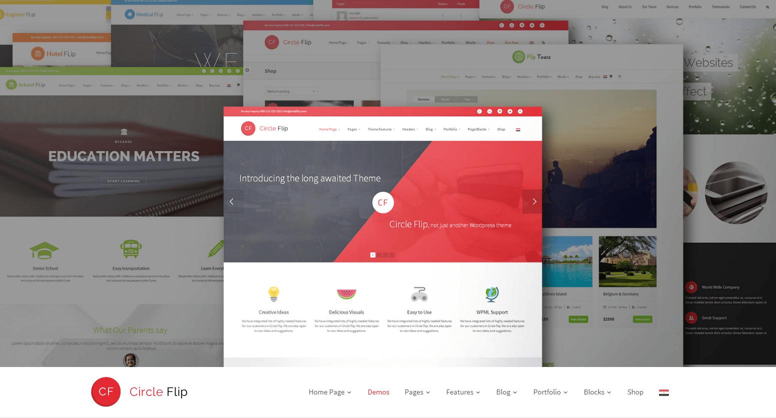 Circleflip WordPress theme