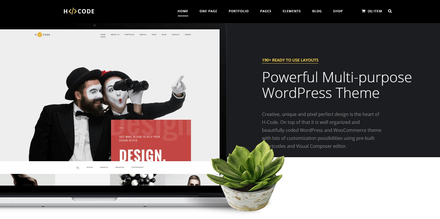 HCode WordPress Theme