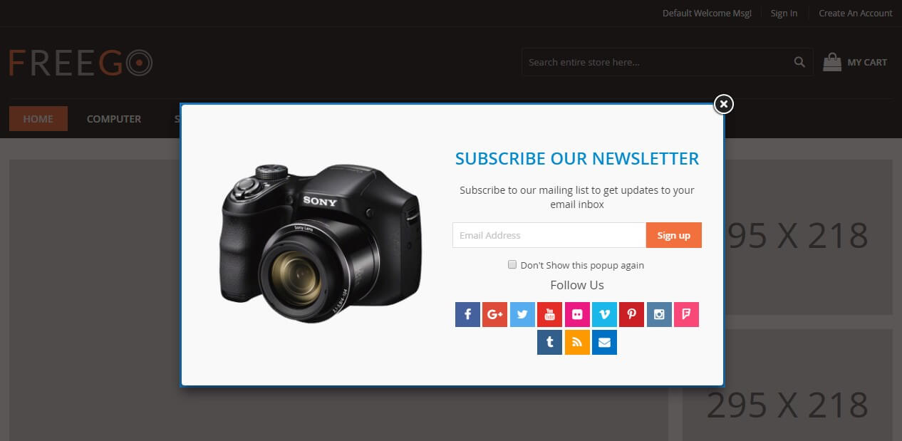 Advanced Newsletter Popup by solwin
