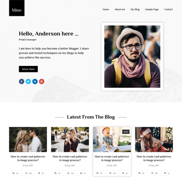 Mine - Free WordPress Blog Theme