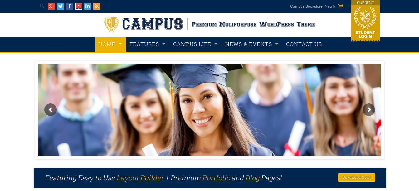 Campus - Multipurpose WordPress Theme