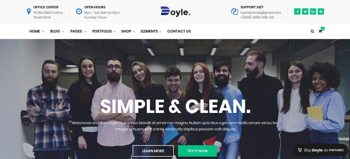 Doyle – Creative Multipurpose WordPress Theme