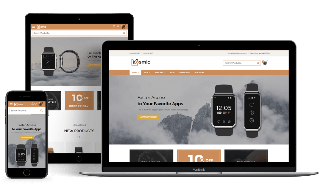 Kosmic Multipurpose Wordpress Theme Ecommerce Theme