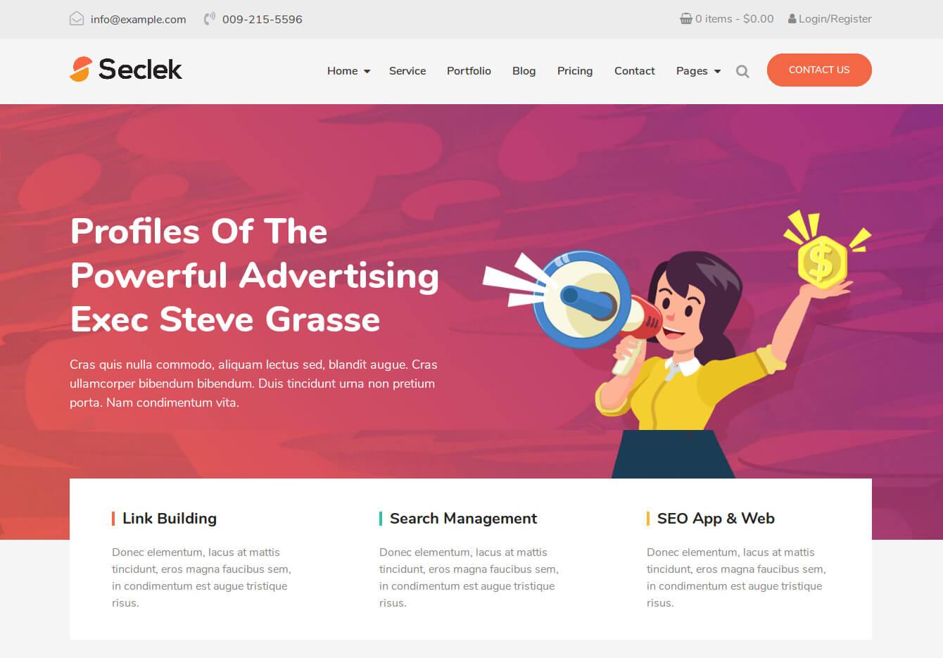 Seclek - Multipurpose WordPress Theme