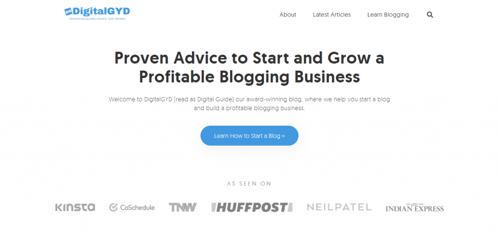DigitalGYD- Award Winning Blog on Growing a Profitable Blogging Business