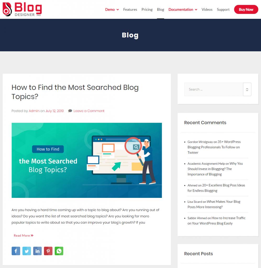WP Blog Designer