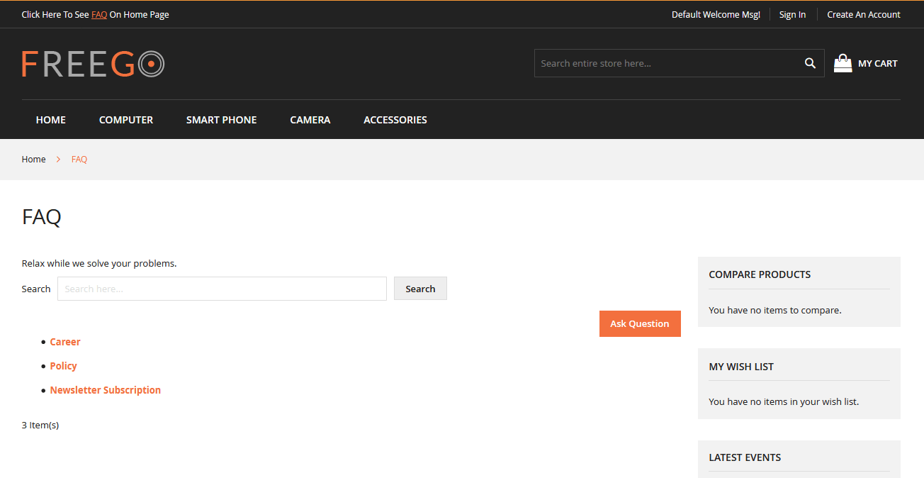 FAQ Manager - Magento 2 Extension