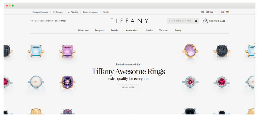 Tiffany-Magento 2 Theme