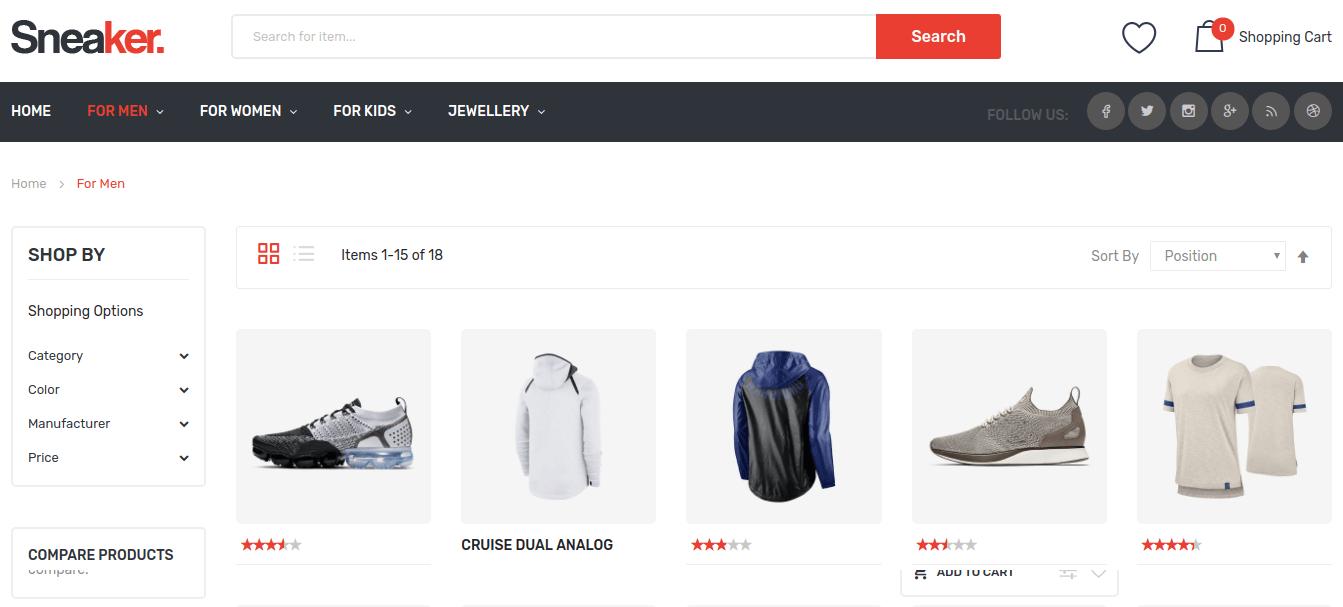 Sneaker-Magento2Theme