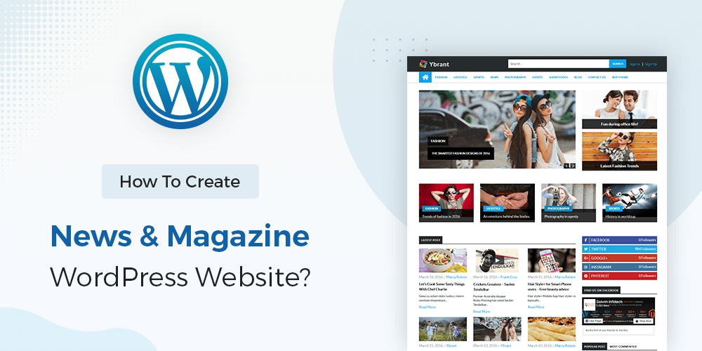 Create News Magazine Website