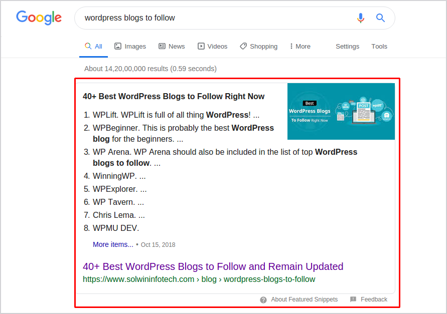 Solwin - Featured Snippet