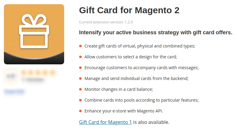 Gift Card For Magento 2