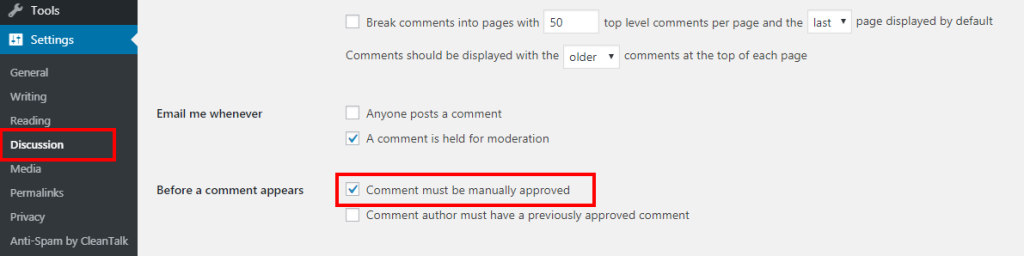 Manage your Comments