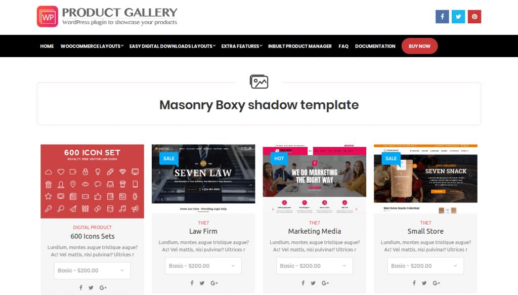 WP Product Gallery WordPress Plugin