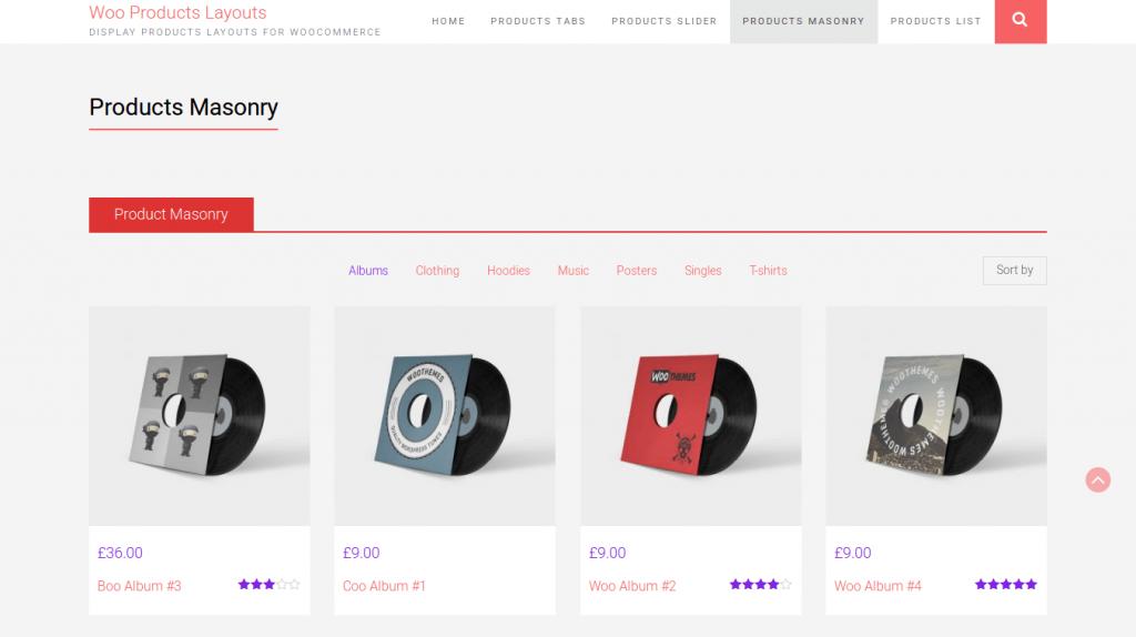 WooCommerce Products Layouts WordPress Plugin