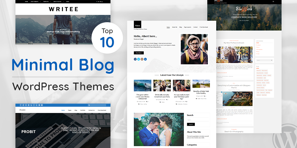 Minimal Blog WordPress Themes
