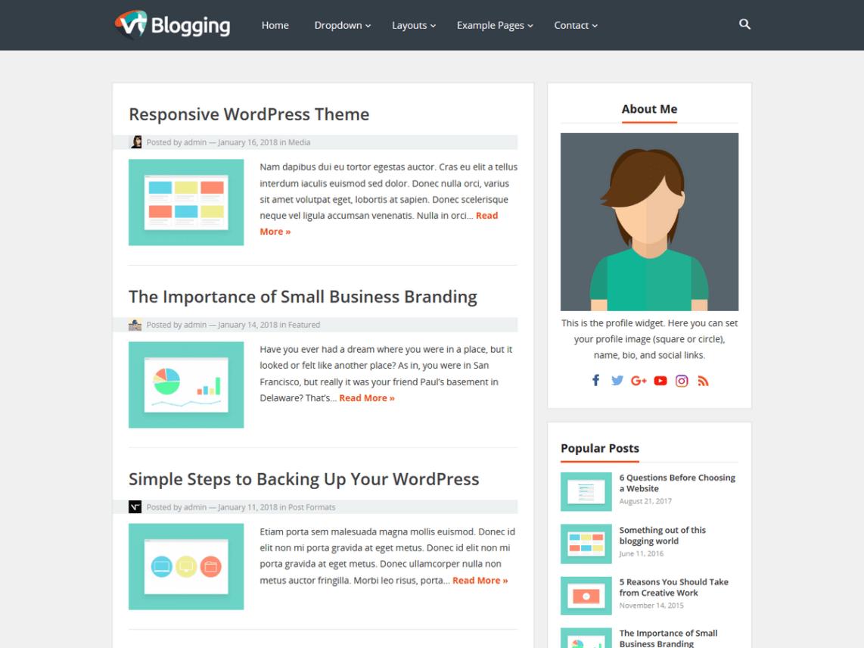 VT Blogging WordPress Theme