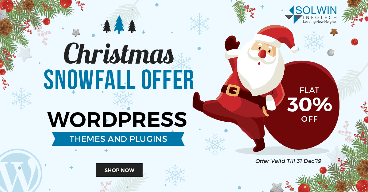 Christmas Sale 2019 - WordPress Plugins & Themes - Solwin Infotech