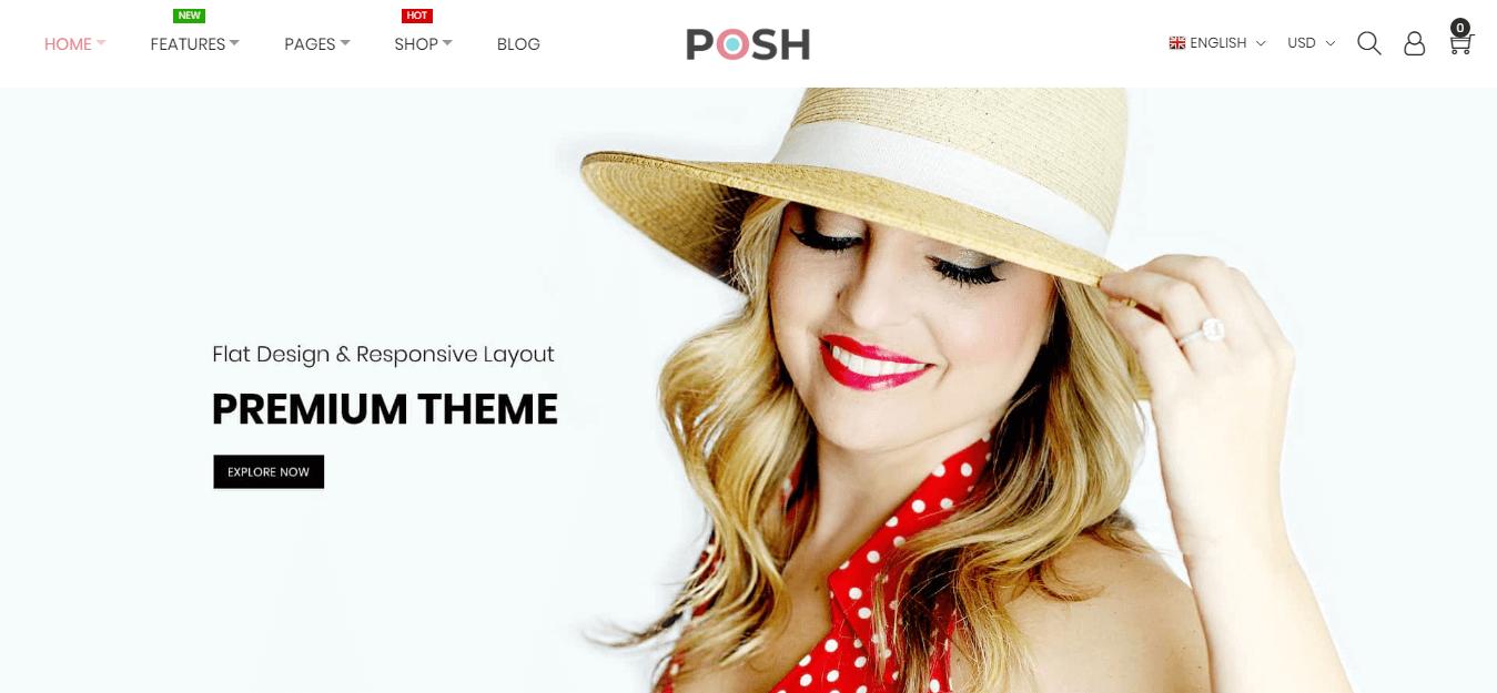 Posh Magento 2 Theme