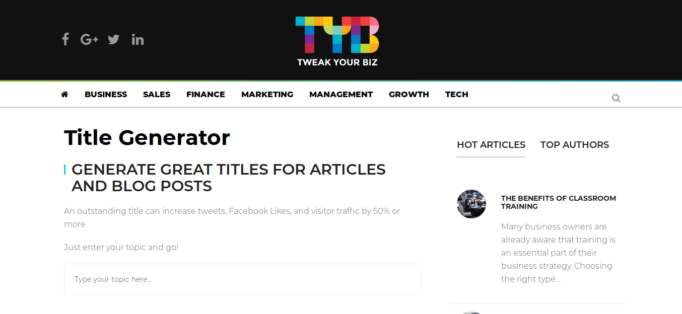 Title Generator_Tweak Your Biz