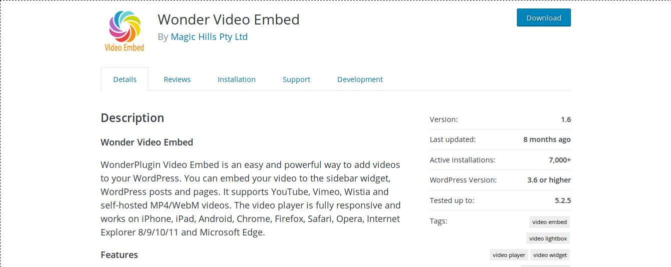 Wonder Video Embed