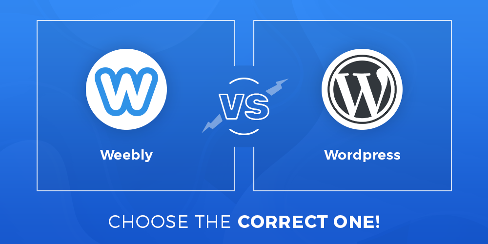 Weebly vs WordPress comparison
