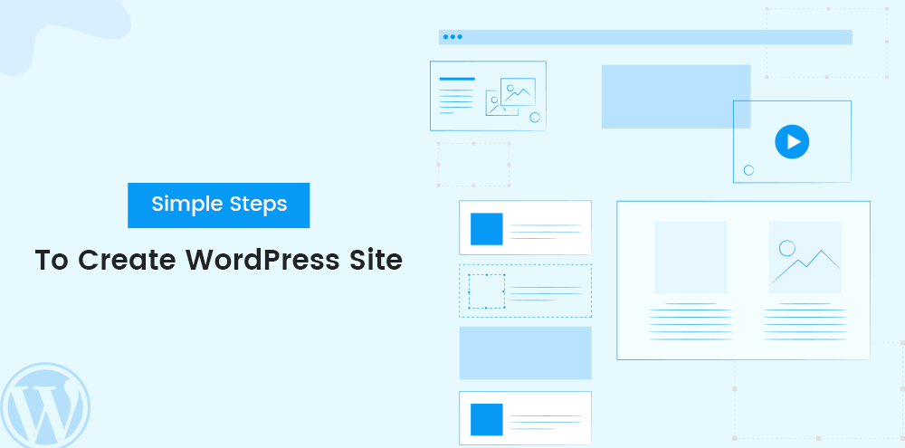 simple steps to create WordPress site