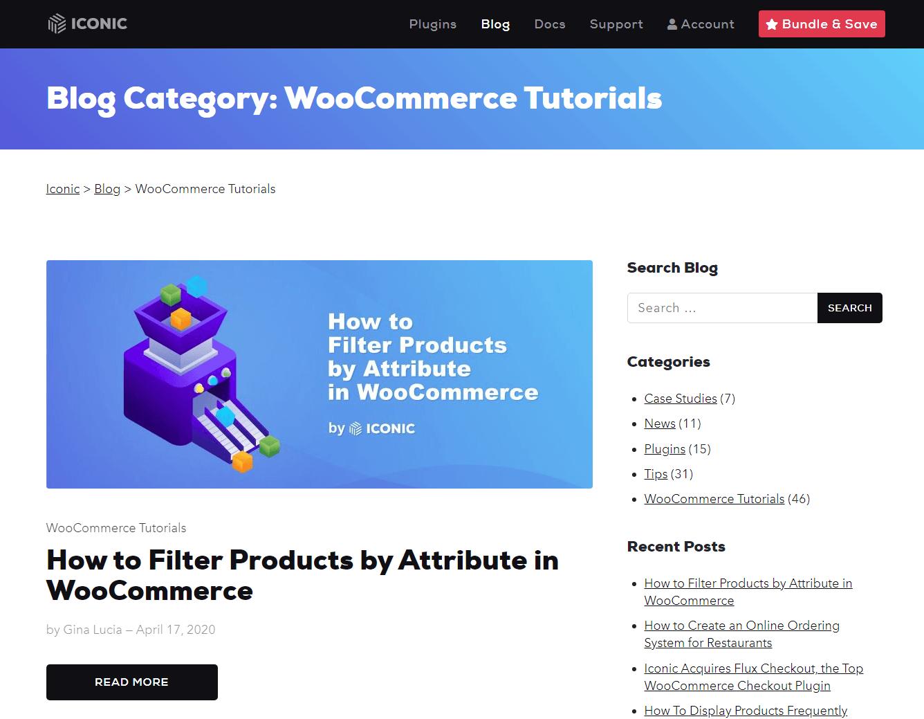 WooCommerce Tutorials - Iconic