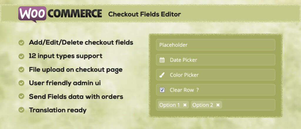 WC Checkout Fields Editor