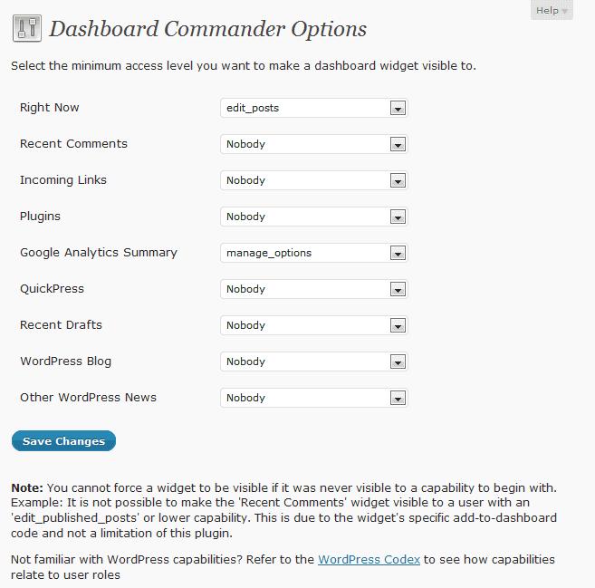 Dashboard Commander