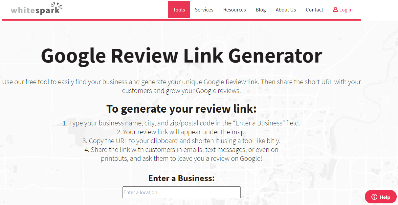 Whitespark-Google-Business- Review-Link-Generator