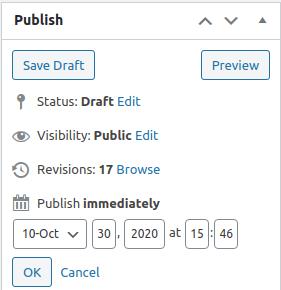 publish schedule