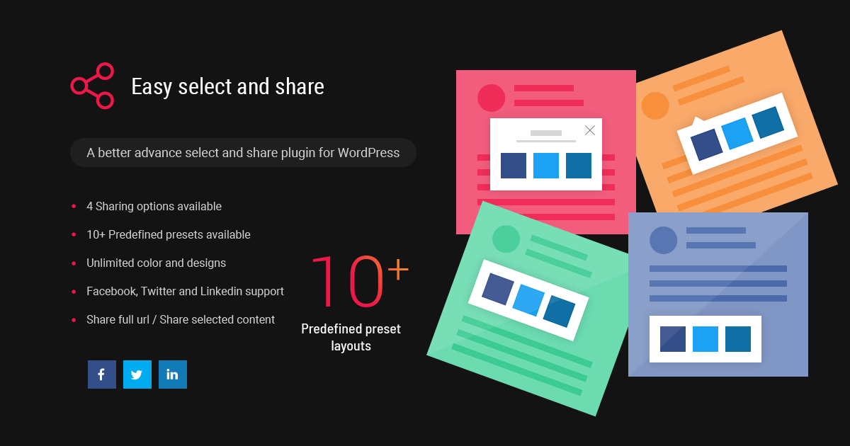Easy Select And Share WordPress Plugin - Solwin Infotech